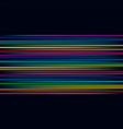 multicolored lines colorful horizontal vector image vector image