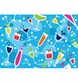Multicolour cocktail pattern vector image vector image