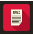 Newspaper icon in flat style vector image vector image