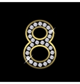 number eight sign vector image vector image