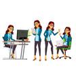 office worker woman servant employee vector image vector image
