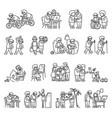 older persons icon set simple style vector image vector image