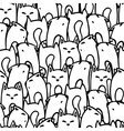 Pattern with cartoon foxes vector image vector image