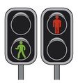 pedestrian traffic lights vector image