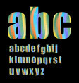 Pixel lowercase grunge alphabet in soft pastel
