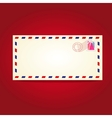 postcard blank template with stamp vector image