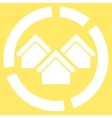 Realty diagram icon from Business Bicolor Set vector image vector image