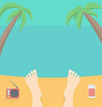 Relax on the Beach vector image vector image