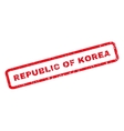 Republic Of Korea Rubber Stamp vector image vector image