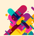 rounded abstract colorful shapes vector image vector image