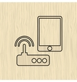 router communication design vector image