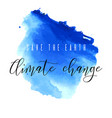 save earth climate change watercolor ink vector image vector image