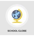 School globe flat icon vector image vector image