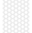 seamless pattern hexagon vector image vector image