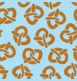 seamless pattern with pretzels for oktoberfest vector image vector image