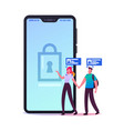 security digital technologies for mobile phone vector image vector image