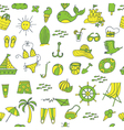 summer seamless pattern green yellow vector image vector image