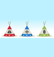 tepee house vector image vector image