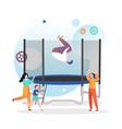 trampoline concept for web banner website vector image vector image