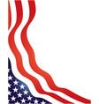 usa flag symbols stripes and stars wavy corner vector image vector image