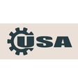 USA word build in gear vector image vector image