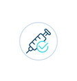 vaccination done linear icon vector image