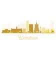 Warsaw City skyline golden silhouette vector image vector image