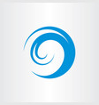 water wave logo symbol vector image