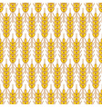 Wheat seamless pattern vector image