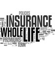 whole life insurance and why people choose it vector image vector image
