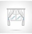 Window textile decor flat line icon vector image vector image