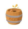 wooden barrel beer icon cartoon style vector image vector image