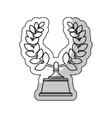 wreath crown award icon vector image
