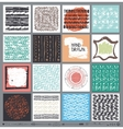 Creative cards setHand Drawn colored ink vector image