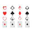 poker card icons set vector image