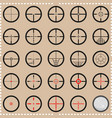 Collection of crosshairs vector image