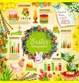 easter celebration infographic template design vector image