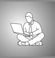 businessman using notebook laptop computer vector image