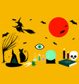 collection witches tricks vector image