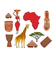 set of african symbols vector image