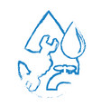 a drop of water and water tap vector image vector image