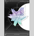 abstract poster with low poly shape creative vector image vector image