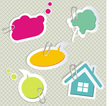 Baby speech bubbles vector image