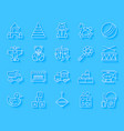 baby toy simple paper cut icons set vector image vector image