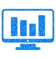 Bar Chart Monitoring Grainy Texture Icon vector image vector image
