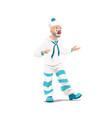 big top circus clown mime funfair carnival vector image vector image