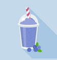 blueberries smoothie vector image vector image