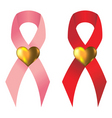 charity support ribbons vector image vector image