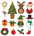 christmas-set-vibrant vector image