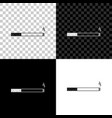 cigarette icon isolated on black white and vector image vector image